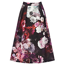 Buy Oasis Floral Midi Skirt, Multi Online at johnlewis.com