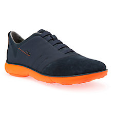 Buy Geox Nebula Trainers, Navy/Orange Online at johnlewis.com