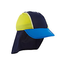 Buy John Lewis Children's Colour Block Keppi Hat, Blue/Yellow Online at johnlewis.com