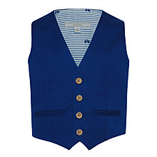 Buy John Lewis Heirloom Collection Boys' Cotton Sateen Waistcoat, Blue Online at johnlewis.com