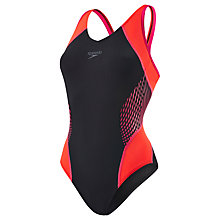 Buy Speedo Fit Splice Allover Muscleback Swimsuit Online at johnlewis.com