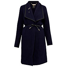 Buy Ted Baker Reghan Boucle Wrap Coat, Navy Online at johnlewis.com