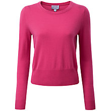 Buy Pure Collection Francesca Crop Jumper, Cerise Online at johnlewis.com