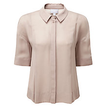 Buy Pure Collection Kendall Boxy Blouse, Blush Online at johnlewis.com