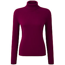 Buy Pure Collection Alexia Roll Neck Jumper, Rich Berry Online at johnlewis.com
