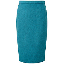 Buy Pure Collection Brooke Wool Pencil Skirt, Turquoise Online at johnlewis.com