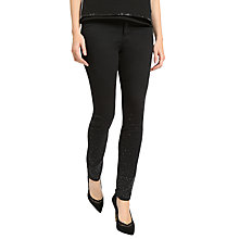 Buy Ted Baker Lamira Embellished Detail Skinny Jeans, Black Online at johnlewis.com