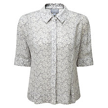 Buy Pure Collection Leila Blouse, Pale Blue Animal Print Online at johnlewis.com