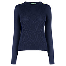 Buy Oasis Military Cable Knit Jumper Online at johnlewis.com