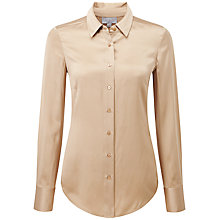 Buy Pure Collection Hampstead Blouse, Champagne Beige Online at johnlewis.com