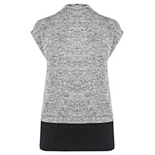 Buy Oasis Woven Hem Top, Grey Online at johnlewis.com