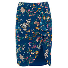 Buy Oasis V&A Drape Skirt, Turquoise Online at johnlewis.com