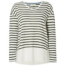 Buy White Stuff Nazelle Stripe Jersey Top, Spinach Green Online at johnlewis.com