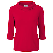 Buy Pure Collection Elias Cashmere Bardot Jumper, Pillarbox Red Online at johnlewis.com