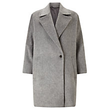 Buy Jigsaw Soft Cocoon Coat, Pale Grey Online at johnlewis.com