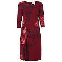 Buy White Stuff Savoy Dress, Burgundy Red Online at johnlewis.com