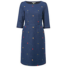 Buy White Stuff Rye Spot Jersey Dress, Dark Denim Online at johnlewis.com