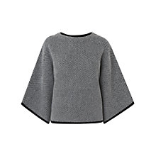 Buy L.K. Bennett Cait Knitted Top, Monochrome Online at johnlewis.com
