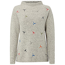 Buy White Stuff Dragonfly Embroidered Jumper, Bell Grey Online at johnlewis.com