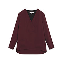 Buy Gerard Darel Giselle Blouse, Dark Red Online at johnlewis.com