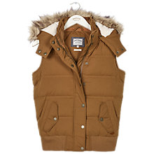 Buy Fat Face Ennerdale Gilet, Cumin Online at johnlewis.com