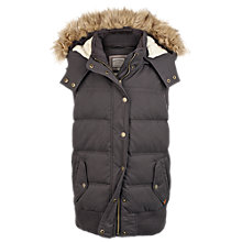 Buy Fat Face Ennerdale Gilet, Charcoal Online at johnlewis.com