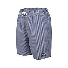 "Buy Speedo Striped Leisure 18"" Watershorts, Navy Online at johnlewis.com"