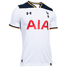 Buy Under Armour Tottenham Hotspurs FC 2016/2017 Short Sleeve Home Football Shirt, White Online at johnlewis.com