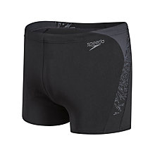 Buy Speedo Boom Splice Aquashorts, Black/Grey Online at johnlewis.com