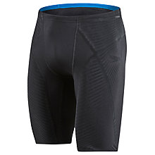 Buy Speedo Fit Power Form Jammers Swimming Shorts, Black/Blue Online at johnlewis.com