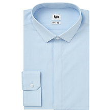 Buy Kin by John Lewis Fine Stripe Slim Fit Shirt, Blue Online at johnlewis.com