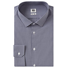 Buy Kin by John Lewis Mini Gingham Slim Fit Shirt, Navy Online at johnlewis.com
