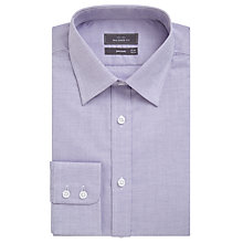 Buy John Lewis Pin Dot Cotton Tailored Shirt, Lilac Online at johnlewis.com
