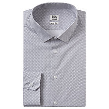 Buy Kin by John Lewis Print Slim Fit Shirt, White Online at johnlewis.com