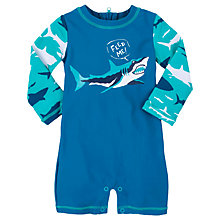 Buy Hatley Baby Shark Sunproof Rash Guard Swimsuit, Blue Online at johnlewis.com