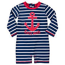 Buy Hatley Baby Vintage Nautical Sunproof Rash Guard Swimsuit, Navy/Red Online at johnlewis.com