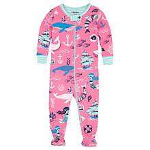 Buy Hatley Baby Sweet Mermaid Sleepsuit, Pink Online at johnlewis.com