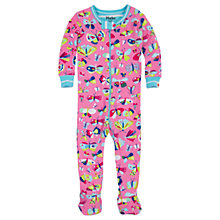 Buy Hatley Baby Butterflies Sleepsuit, Pink Online at johnlewis.com