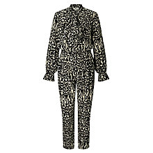 Buy Somerset by Alice Temperley Animal Print Jumpsuit, Black Online at johnlewis.com