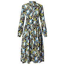 Buy Somerset by Alice Temperley Floral Animal Print Dress, Black Online at johnlewis.com