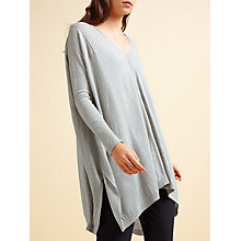 Buy Modern Rarity V-Neck Linen Poncho, Grey Online at johnlewis.com