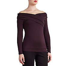 Buy Bruce by Bruce Oldfield Off Shoulder Wrap Top, Red Online at johnlewis.com