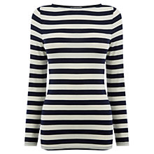 Buy Oasis Boat Neck Stripe Top, Multi Online at johnlewis.com