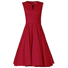 Buy Jolie Moi Keyhole Neckline 50s Dress, Red Online at johnlewis.com