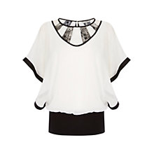Buy Coast Sunnity Calla Top, Black/White Online at johnlewis.com