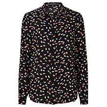 Buy Sugarhill Boutique Blair Heart Print Shirt, Black/Multi Online at johnlewis.com