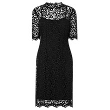 Buy L.K. Bennett Aisha Lace Dress, Black Online at johnlewis.com