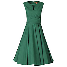 Buy Jolie Moi Keyhole Neckline 50s Dress, Dark Green Online at johnlewis.com
