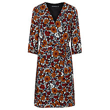 Buy Sugarhill Boutique Iliana Floral Wrap Dress, Rust Online at johnlewis.com