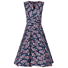 Buy Jolie Moi Floral Print Wrap Belt Dress, Navy Floral Online at johnlewis.com